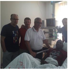 Ba's coach, Gregorio Manzano visits his linchpin