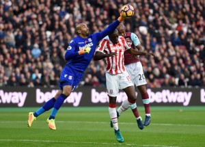Stoke-Citys-Lee-Grant-and-Bruno-Martins-Indi-in-action-with-West-Ham-Uniteds-Andre-Ayew